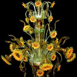 Пазл онлайн: Муранское стекло.Люстра