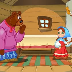 Пазл онлайн: Маша и Медведь