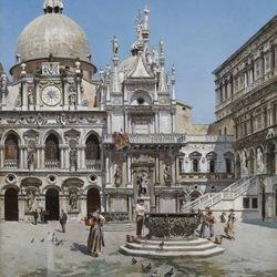 Пазл онлайн: Дворец дожей в Венеции