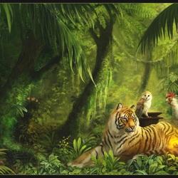 Пазл онлайн: Миранда и глаз тигра