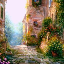Пазл онлайн: Тосканский этюд