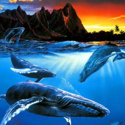 Пазл онлайн: Три кита