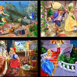 Пазл онлайн: Иллюстрации к сказкам