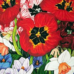 Пазл онлайн: Тюльпаны, нарциссы и крокусы
