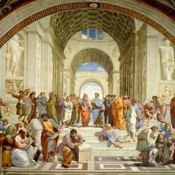Пазл онлайн: Афинская школа