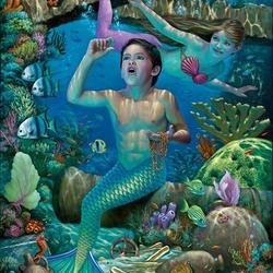 Пазл онлайн: Подводное сокровище