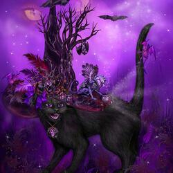 Пазл онлайн: Подружка ведьмы