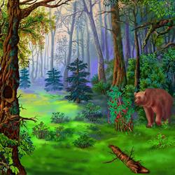 Пазл онлайн: В дремучем лесу