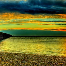 Пазл онлайн: Закат у моря