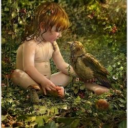 Пазл онлайн: Поговори со мною птичка