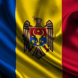 Пазл онлайн: Флаг Молдавии