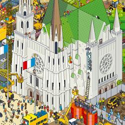 Пазл онлайн:  Шартрский собор