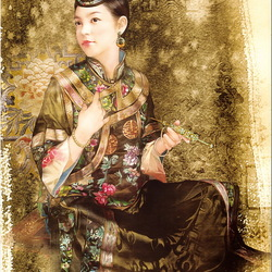 Пазл онлайн: Китаянка в национальном платье