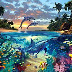 Пазл онлайн: Подводная сказка