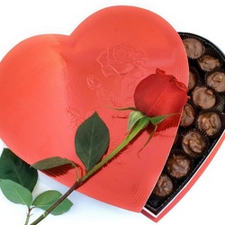 Пазл онлайн: Роза от всего сердца