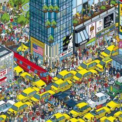 Пазл онлайн: Жёлтые такси