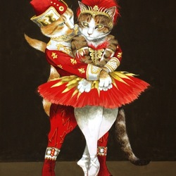 Пазл онлайн: Балетная пара