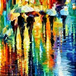 Пазл онлайн: Под проливным дождем