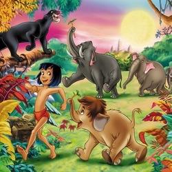 Пазл онлайн: Книга джунглей