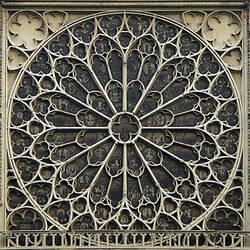 Пазл онлайн: Витраж Собора Парижской Богоматери