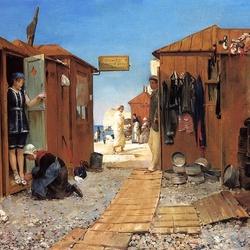 Пазл онлайн: Пляж в Этрета
