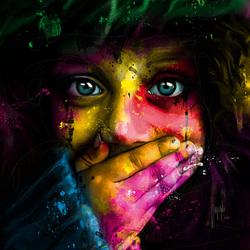Пазл онлайн: Красочный взгляд