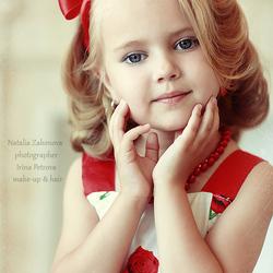 Пазл онлайн: Красивая девочка
