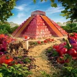 Пазл онлайн: Пирамида Майя