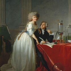Пазл онлайн: Антуан Лоран Лавуазье и его жена Мария Анна Пьеретт