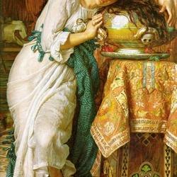 Пазл онлайн: Изабелла и горшок с базиликом