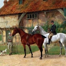 Пазл онлайн: У торговца лошадьми