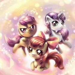 Пазл онлайн: Милые пони