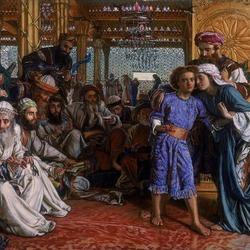 Пазл онлайн: Нахождение Спасителя в Храме