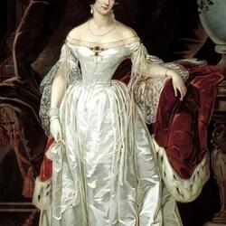 Пазл онлайн: Портрет императрицы Александры Фёдоровны