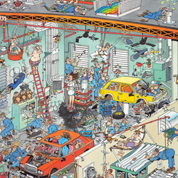Пазл онлайн: Автомастерская