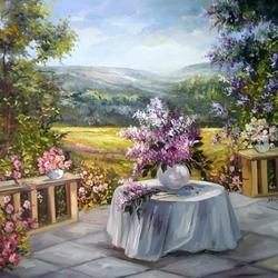 Пазл онлайн: Кругом цветы...