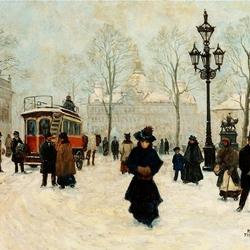 Пазл онлайн: Зима в Копенгагене