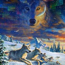 Пазл онлайн: Сумерки. Волки