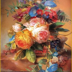 Пазл онлайн: Натюрморт с желтой розой