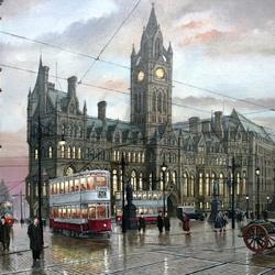Пазл онлайн: Манчестер. Площадь Альберта
