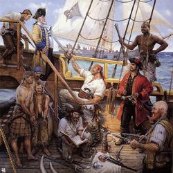 Пазл онлайн: Пираты на корабле