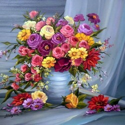 Пазл онлайн: Цветочное изобилие