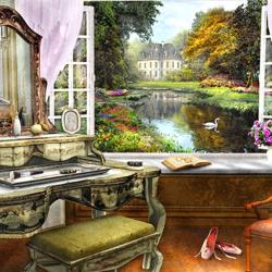 Пазл онлайн: Красивый вид из окна