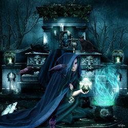 Пазл онлайн: Темный ритуал