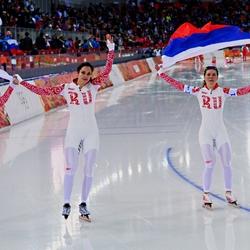 Пазл онлайн: Российские конькобежки