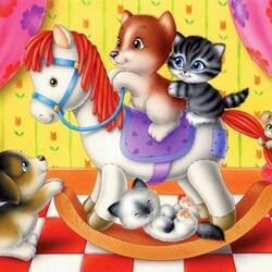 Пазл онлайн: На лошадке