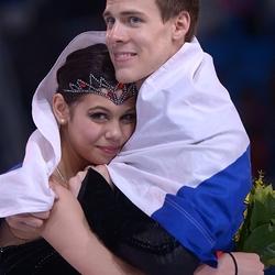 Пазл онлайн: Елена Ильиных и Никита Кацалапов