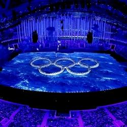 Пазл онлайн: Олимпийские кольца