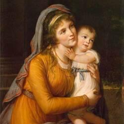 Пазл онлайн: Портрет графини Анны Сергеевны Строгановой с сыном
