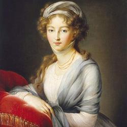 Пазл онлайн: Портрет императрицы Елизаветы Алексеевны